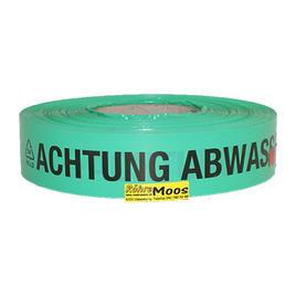 "Warnband  ""Abwasserleitung"", Farbe: grün"