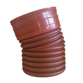 Bogen NW 1'000 / 15° Einseitig mit Muffe, Einseitig Spitzende verjüngt + auf 1m verlängert,